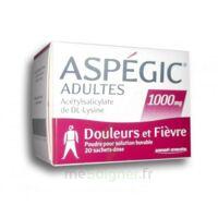 ASPEGIC ADULTES 1000 mg, poudre pour solution buvable en sachet-dose 20 à Farebersviller