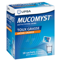 MUCOMYST 200 mg Poudre pour solution buvable en sachet B/18 à Farebersviller