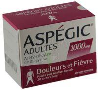ASPEGIC ADULTES 1000 mg, poudre pour solution buvable en sachet-dose 15 à Farebersviller