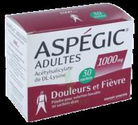 ASPEGIC ADULTES 1000 mg, poudre pour solution buvable en sachet-dose 30 à Farebersviller