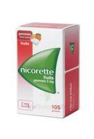 Nicorette 2 Mg Gomme à Mâcher Médicamenteuse Sans Sucre Fruits Plq/105 à Farebersviller
