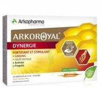 Arkoroyal Dynergie Ginseng Gelée Royale Propolis Solution Buvable 20 Ampoules/10ml à Farebersviller