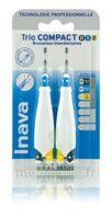 Inava Brossettes Tri Compact étroit  012 Noir 0,6mm/ Bleu 0,8mm/ Jaune 1mm à Farebersviller