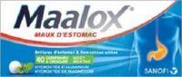 MAALOX HYDROXYDE D'ALUMINIUM/HYDROXYDE DE MAGNESIUM 400 mg/400 mg Cpr à croquer maux d'estomac Plq/40 à Farebersviller