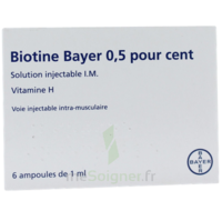 BIOTINE BAYER 0,5 POUR CENT, solution injectable I.M. à Farebersviller