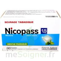 Nicopass 1,5 mg Pastille sans sucre menthe fraîcheur Plq/96 à Farebersviller