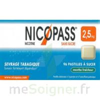 Nicopass 2,5 mg Pastille menthe fraîcheur sans sucre Plq/36 à Farebersviller