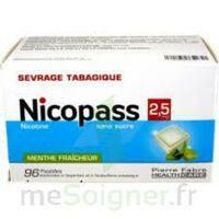 Nicopass 2,5 mg Pastille menthe fraîcheur sans sucre Plq/96 à Farebersviller