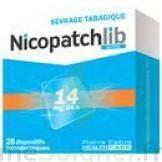 NICOPATCHLIB 14 mg/24 h Dispositifs transdermiques B/28 à Farebersviller