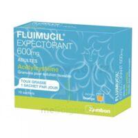 FLUIMUCIL EXPECTORANT ACETYLCYSTEINE 600 mg Glé s buv adultes 10Sach à Farebersviller