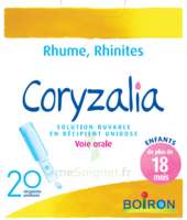 Boiron Coryzalia Solution buvable unidose B/20 à Farebersviller
